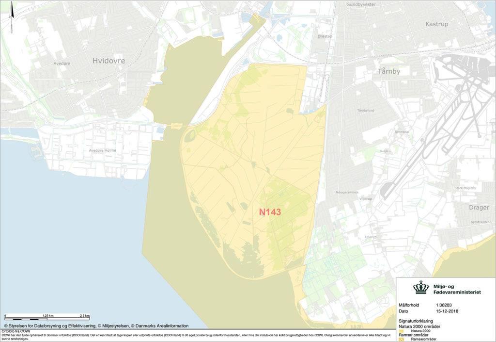 Kort over Natura 2000-fredningen N143